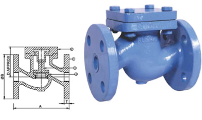 Cast Iron Stem Check Valve